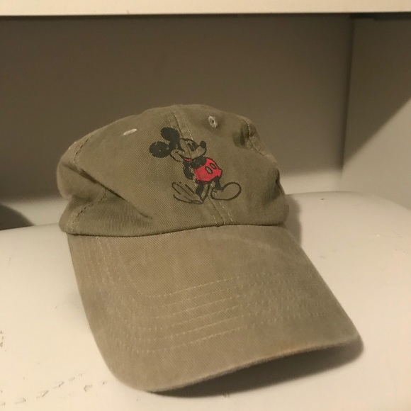2fc894ed7f8 Disney Accessories - DISTRESSED Green Mickey Mouse Hat